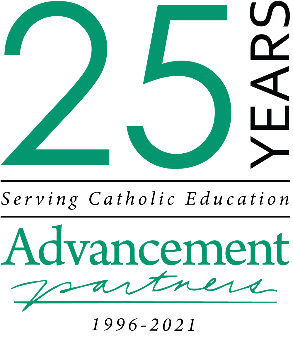Advancement Partners, Inc. 25th anniversary logo